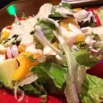 ウォーター - 豆腐ドレッシングのサラダ