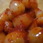 鶴橋オモニ・金杏奈の手作りキムチ - らっきょキムチです