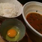 平右衛門 - 2014.12 スンドゥブらーめんの麺を食べ終わり、白飯と卵を追加