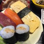 セーブル - にぎわい御膳のお寿司は納豆巻き。