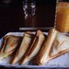 珈琲館かぶ - 料理写真:ホットサンドとミックスジュース