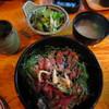 """十三や - 料理写真:""""牛ヒレ丼""""セット¥1,000"""