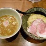 麺屋 NOROMA - ニボシとしゃもの濃厚鶏白湯つけ麺(H26.12.5)