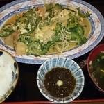 寿味食堂 - ゴーヤチャンプルー定食