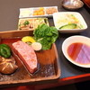 西光園 - 料理写真:網焼角切りステーキ定食2100円