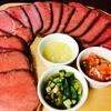 WINE BAL BiBBER - 料理写真:牛もも肉のローストビーフは赤ワインとご一緒に♪