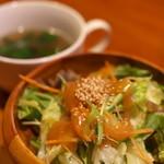 キッチン ククゥ - セットのサラダ