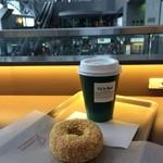 カフェ デュ モンド - カフェオレとミスドのバタークランチ