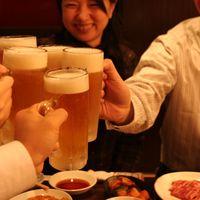 いつでも生ビール190円(税別)の焼肉屋!