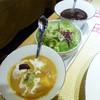 白山文雅 - 料理写真:サラダとカレールー
