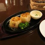 パブレストラン ナポレオン - 「レンコンステーキ」です。