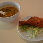 NIMTA - 開店サービスのスープとタンドリーチキン