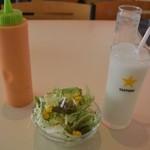 NIMTA - サラダとラッシー