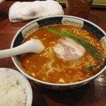 支那麺 はしご - 坦坦麺(中辛)+ごはん