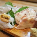 栄寿司小吉 - 料理写真:鯛、いか、さえずり