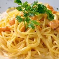 北海道産生ウニのスパゲッティ(オイルベース)