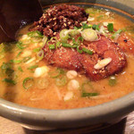 麺屋 あまのじゃく  - 料理写真:味噌とんこつのアップ