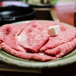 金谷 - 料理写真:すき焼きの肉☆