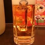 ラーメン次郎長 - 生ビール