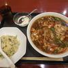 唐庄酒家 - 料理写真:サンラー麺セット¥880-