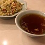 孫悟空 - スープ付。寒いからね!!