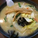 手打ちラーメン 恒 - 野菜ラーメン(みそ)850円