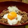 風來蕎 - 料理写真:鴨そぼろ丼