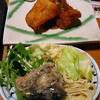 波平キッチン - 料理写真:日替りランチ700円:メンタイのフライ・刺身・茶碗蒸。惣菜サラダサービス付。