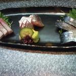 郷土料理と地魚の店 かにや - 刺身3店盛り