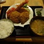 お食事酒処和 - ミックスフライ定食¥1500☆
