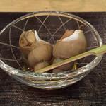 ふじ本 - お通し バイ貝