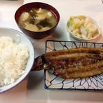 丸一食堂 - サンマの開き定食@500円