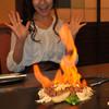 ぽんぽこ本゜舗 - 料理写真:ステーキは目の前でフランベ!