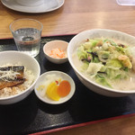 徳丸レストラン - 小チャンポンと小鰯蒲焼き丼のセット1,080円(^^)