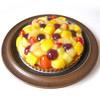 みによん - 料理写真:【フルーツタルト】タルト地にカスタードクリームとスポンジに、生クリームとフルーツで飾りました。