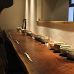 月よみ庵 - カウンター席 (2014/12)