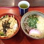 庵々 - そばセット(蕎麦+ミニ玉子丼)820円