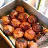 ビストロ アンプル - 料理写真:真ん丸ハンバーグはランチの定番