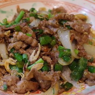 オーセンティック - 料理写真:岐阜産あじめこしょうと牛肉の炒め