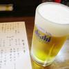 山口大亭  - ドリンク写真:生ビールはアサヒ【2014.11月】