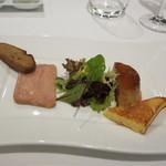 レストラン タニ - フォアグラのプリン仕立てとフォワグラのテリーヌの盛り合わせ