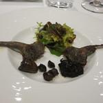 レストラン タニ - 山鳩の内臓と腿のサラダ仕立て