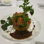 レストラン タニ - 牡蠣のパイ包み焼き エシャロットヴィネガーのソース