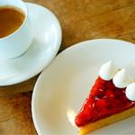明治の館 ケーキショップ - チェリータートとコーヒー