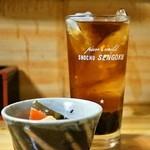 江戸政 - 2014.12 コーヒーハイ(300円)と無料のお通し