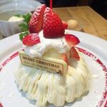 J.S. PANCAKE CAFE - ベリーチーズクリスマスパンケーキ