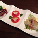 ヴィーノロマンティカ - 前菜3種盛り
