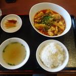 33733298 - 麻婆豆腐のランチセット
