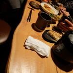 """ダイニング酒場 風"""" - 個室。木製テーブルがイイ感じ。"""