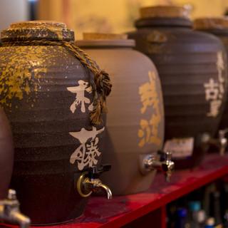 泡盛・クース・沖縄梅酒などさまざまなお飲物を楽しめます